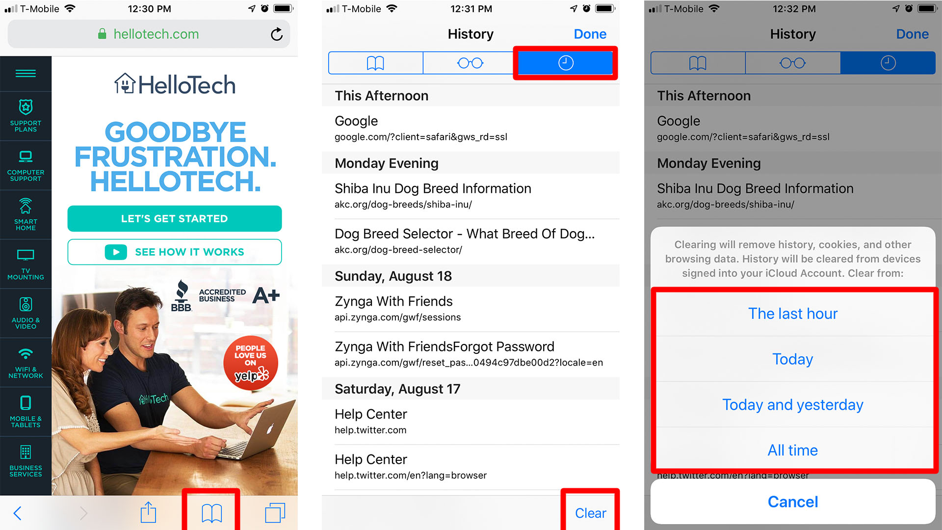 How to Clear History Based on Time Periods on Safari