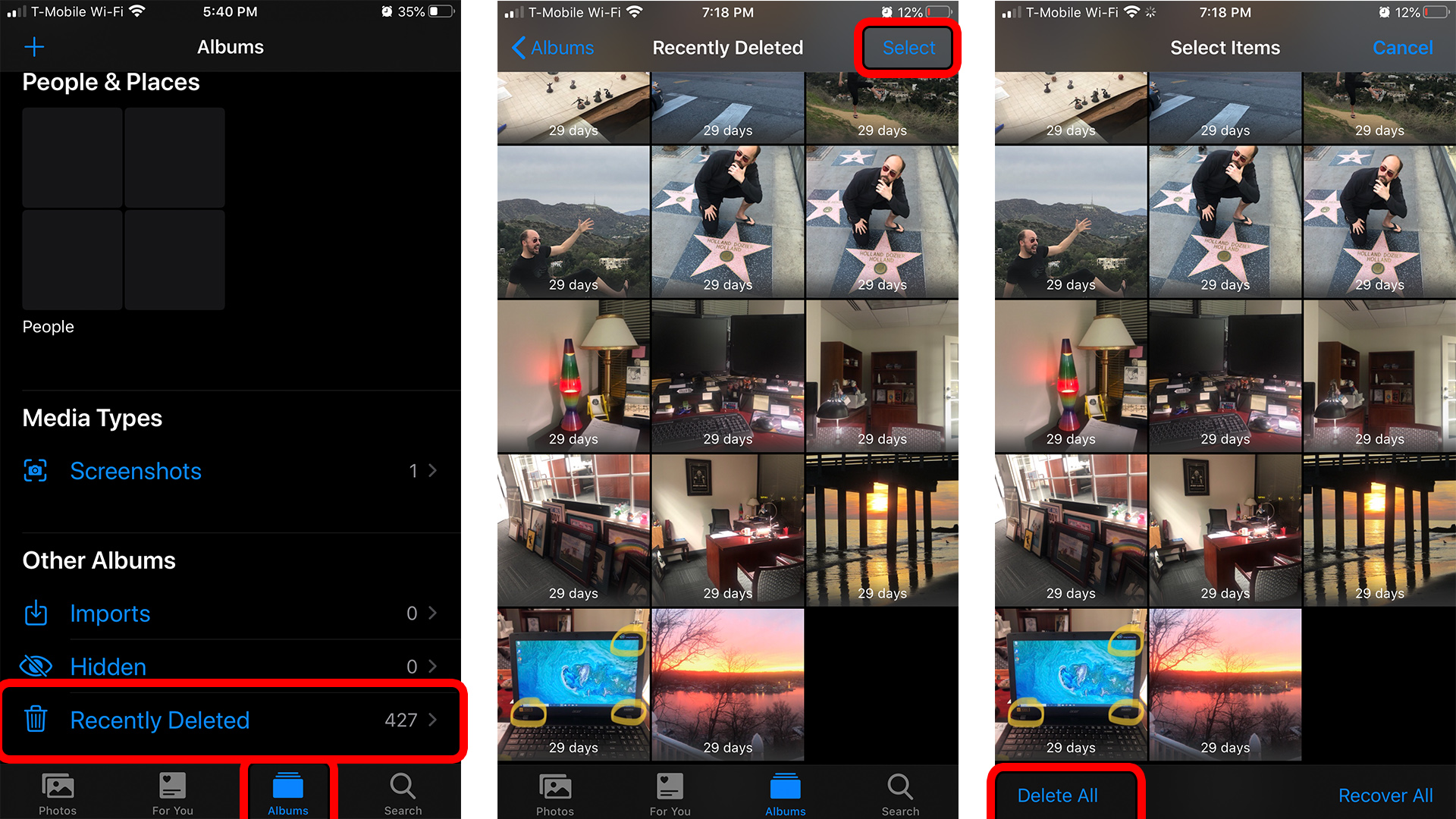 How to Delete All the Photos from Your iPhone