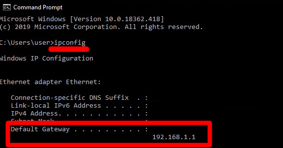 How to Find Router IP Address with Command Prompt